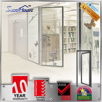 Superhouse strong and durable Australia standard aluminum casement door with double tempered