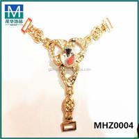Mexico Cheap gold shoe chain for ladies,sandal ornaments MHZ0004