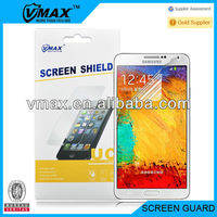 For Samsung galaxy note 3 n9000 clear screen protector oem/odm (High Clear)