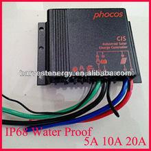 Phocos cis5a/10a/20a pwm ip68 a prueba de agua luz de calle solar regulador de carga