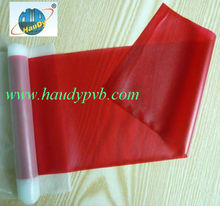 0.76mm Red pvb interlayer for laminated safety glass