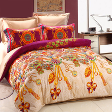 2015 Customize luxury style 100% cotton European design 4 pcs bedding set
