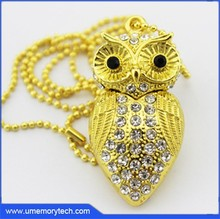 New products 2015 innovative product gold owl pen drives usb memory sticks flash driver