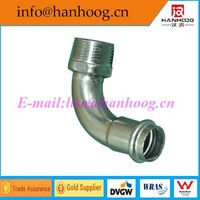 GB/ JB/ HGL/SHL/ANSI/ASME stianless steel male angle adaptor elbow DN 50 x RP2