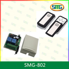 New 4CH,12-35V keyless remote control kits,1KM distance, working mode,learning code,white color outer case