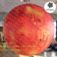 2015 hottest Beautiful replica 1.2m inflatable hanging Planet Solar