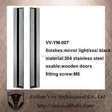 classical keyless lubricative sliding handle for wooden doors
