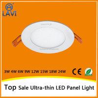 Embedded slim small round flat LED panel light with high CRI>85Ra high tramsmittance>90%