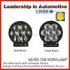 Factory supply 7 LED Light Round Daytime Driving Running DRL Car Fog Lamp 12V Head Light External Lights