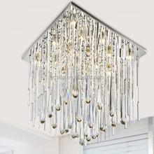Hotel lobby new fancy teardrop crystal sliver ceiling lamps lighting