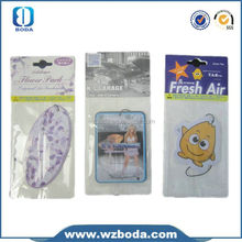 Cotton paper auto hanging air freshener card lasting fragrance