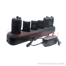 Seis vías de escritorio universal cargador de batería para radio de dos vías baterías para tyt md-380 MD 380 md380
