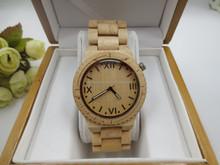 Custom logo High end gift watch natural wood watch wood vogue watches