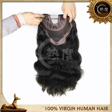 Lace front wig human hair u part wig white women lace wigs