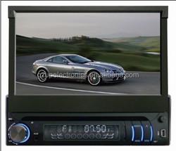 1 din 7 inch car dvd player car gps navigatioin with DVD/GPS/TV/Bluetooth