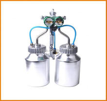 Ningbo 2015 hot on sales aircraft painting materials chrome paint double nozzle gun