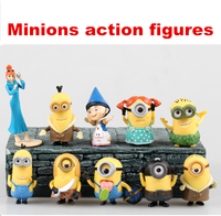 Hot Movie cartoon Despicable me action figure Minions figures 4.5-8cm dolls toy