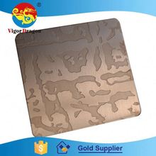 Best Quality Exquisite Various Colors Etching Gold Supplier 304 Stainless Steel Plate