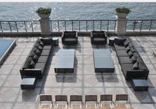 Santa outdoor Furniture European Style sofa Restaurant rattan Furniture