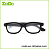 black frame plastic circular polarized 3D gafas for Unisex