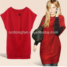 2014 spring new fat woman fashion loose thin joker one buckle dress