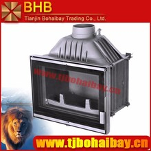 BHB CE certification built-in wood burning style cast iron fireplace