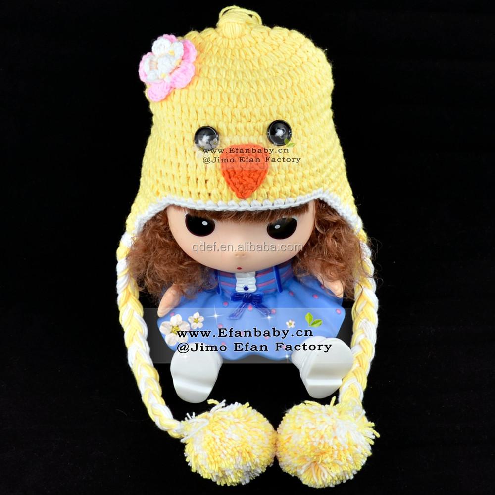 Crochet Patterns For Childrens Animal Hats : Custom Crochet Animal Hat Baby Children Chick Knitted ...
