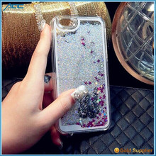 Liquid Novelty Colourful Bling Stars Moving Glitter Case for iPhone 6 6plus 5s
