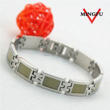 2015 vogue 316 L SS carbon fiber holy bracelets