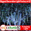 50cm 8tubes/set outdoor christmas led falling snow lights led meteor shower light led meteor shower light