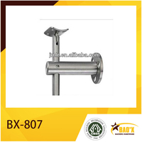 stainless steel material for tube support with tube connector for railing with handrail fitting