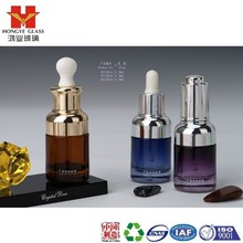Essential oil set brown/blue/purple color empty cosmetic packaging dropper glass bottle HY1319