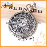 National wind Bronze big plum large flip pocket watch Foreign trade necklace hand-winding pocket watch 1158
