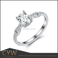 CYW 925 sterling silver wedding ring marry ring of Chile