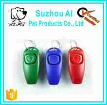 Obedience Trainer Pet Click whistle Agility keyring Dog Training Clicker