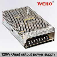regulated 120W Quad output switching power supply dc regulated led power