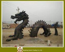 decorative large bronze dragon sculpture