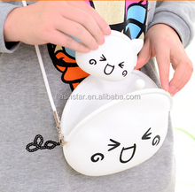 Cute Animal Expression Silicone Bag, Children Silicone Cute bag