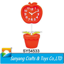 Popular fancy apple shape alarm clock for home decoration