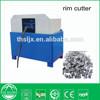 Tire recycling crumb rubber machine tire rim cutter