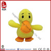 Sedex factroy promotion gifts stuffed cheap toy farm animal plush yellow duck toy