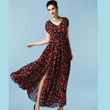 Wholesale OEM casual dress patterns chiffon floral printed fabric gharara