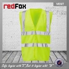 100 polyester hgih visibility ansi safety vest