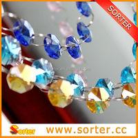 Wholesaler crystal Beaded chain for wedding Christmas tree decoration sale