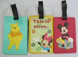 Cartoon animal series soft PVC Luggage tag