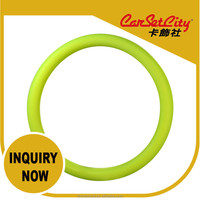 (CS-27427-1) CarSetCity Silicone Steering Wheel Cover FXPT01 Green