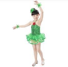Hot sale Girls Latin Dress Kids Shining Ballroom Dancing Dresses Children Stage Dancewear Baby Bling Dance Costumes