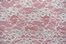 100% cordón de poliéster tela/jacquard tela de encaje francés para el vestido/blusa