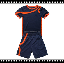 Hot Sell Wholesale Sport suits For Children ,Fashion Children Sport Suit ,Quikly Dry Boy's Basketball Shirt