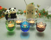 wholesale egg shaped glass jar and oriental candle holder , mini glass candle jar hot sale